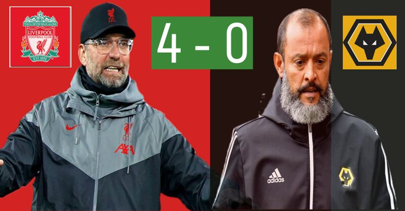 Liverpool 4 – 0 Wolves post match Tactical Analysis