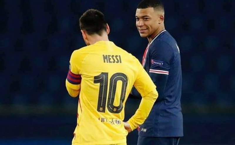 Kylian Mbappe praises Messi as being a top professional
