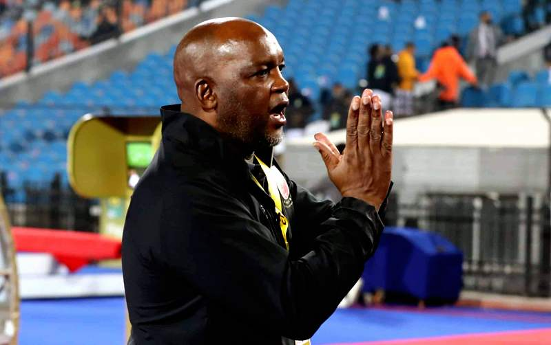 Pitso Mosimane reacts after their first league loss