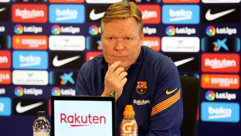Koeman reads out statement in defiant press conference asking for support